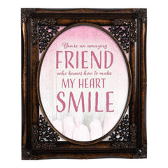 An Amazing Friend Oval Amber 8 x 10  Oval Wall And Tabletop Photo Frame