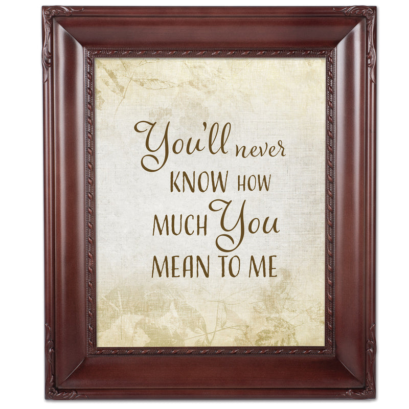 You'll Never Know Mahogny 8 x 10  Wall And Tabletop Photo Frame