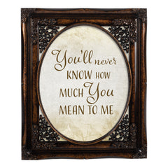 You'll Never Know Oval Amber 8 x 10  Oval Wall And Tabletop Photo Frame
