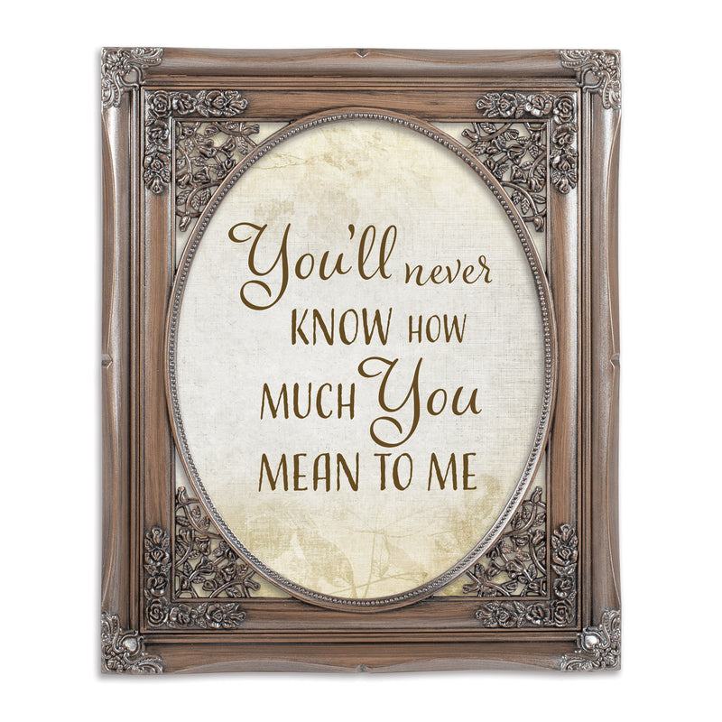 You'll Never Know Oval Silver Greybrush 8 x 10  Oval Wall And Tabletop Photo Frame