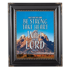 Wait For The Lord Solid Black 8 x 10  Wall And Tabletop Photo Frame