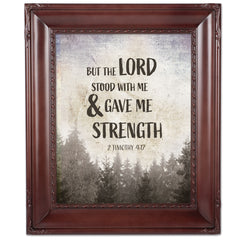 Lord Stood With Me Mahogny 8 x 10  Wall And Tabletop Photo Frame