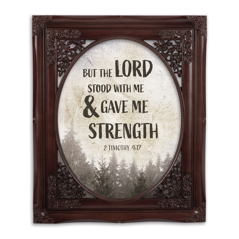 Lord Stood With Me Oval Mahogny 8 x 10  Oval Wall And Tabletop Photo Frame