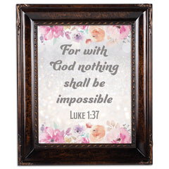 God Nothing Impossible Amber  8 x 10  Wall And Tabletop Photo Frame