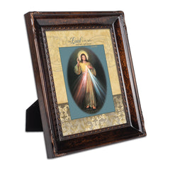 My Light and Salvation Burlwood Rope Trim 8 x 10 Table Top and Wall Photo Frame