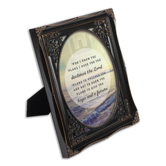 He Gives Me Hope Black Floral Cutout 8 x 10 Table Top and Wall Photo Frame