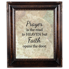 Faith Opens the Door Burlwood Rope Trim 8 x 10 Table Top and Wall Photo Frame