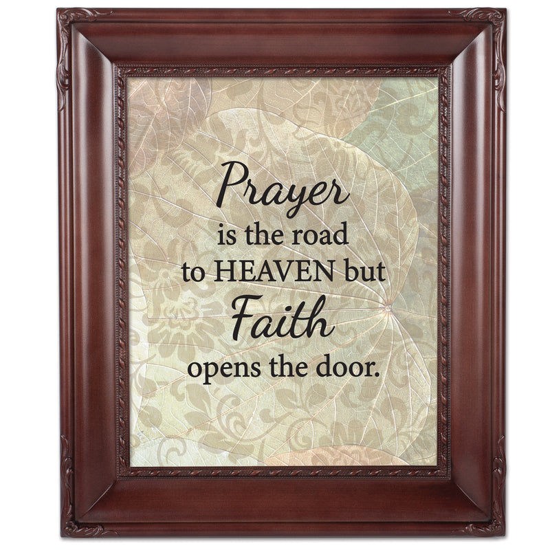 Faith Opens the Door Mahogany Rope Trim 8 x 10 Table Top and Wall Photo Frame