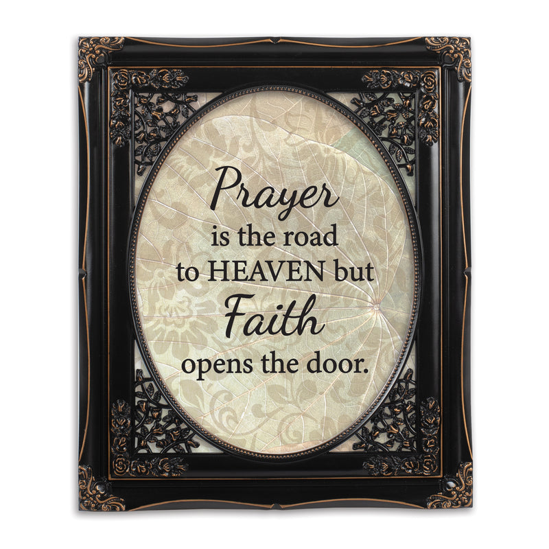 Faith Opens the Door Black Floral Cutout 8 x 10 Table Top and Wall Photo Frame