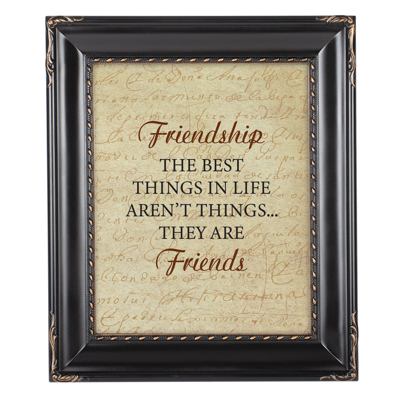 Friendship is the Best Black Rope Trim 8 x 10 Table Top and Wall Photo Frame