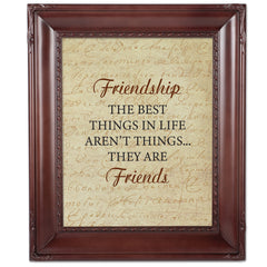 Friendship is the Best Mahogany Rope Trim 8 x 10 Table Top and Wall Photo Frame