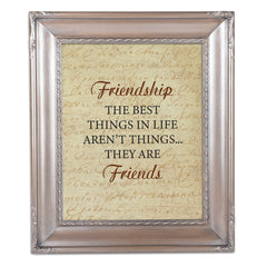 Friendship is the Best Brushed Silver Rope Trim 8 x 10 Table Top and Wall Photo Frame
