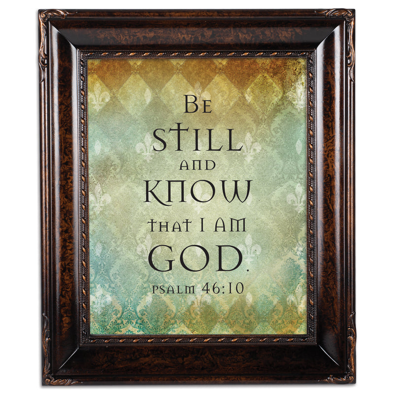 Be Still Burlwood Rope Trim 8 x 10 Table Top and Wall Photo Frame