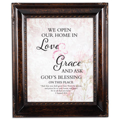 Love & Grace Burlwood Rope Trim 8 x 10 Table Top and Wall Photo Frame