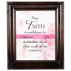 Confidence in Hope Burlwood Rope Trim 8 x 10 Table Top and Wall Photo Frame