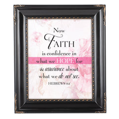 Confidence in Hope Black Rope Trim 8 x 10 Table Top and Wall Photo Frame