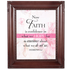 Confidence in Hope Mahogany Rope Trim 8 x 10 Table Top and Wall Photo Frame