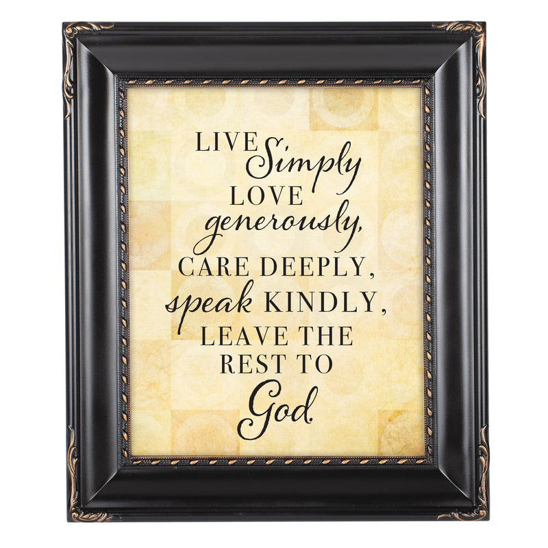 Live Love Care Black Rope Trim 8 x 10 Table Top and Wall Photo Frame