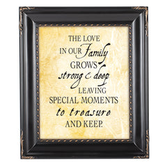 Treasure Family Black Rope Trim 8 x 10 Table Top and Wall Photo Frame