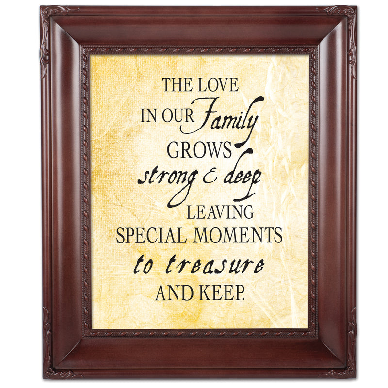 Treasure Family Mahogany Rope Trim 8 x 10 Table Top and Wall Photo Frame