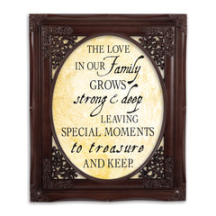 Treasure Family Mahogany Floral Cutout 8 x 10 Table Top and Wall Photo Frame