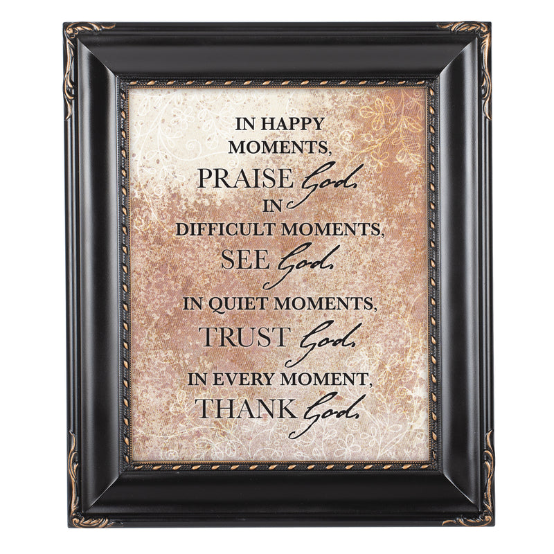 Praise See Trust Thank Him Black Rope Trim 8 x 10 Table Top and Wall Photo Frame
