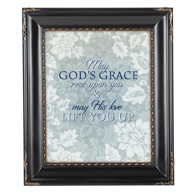May His Love Lift You Black Rope Trim 8 x 10 Table Top and Wall Photo Frame