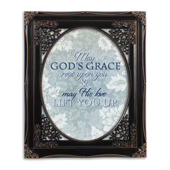 May His Love Lift You Black Floral Cutout 8 x 10 Table Top and Wall Photo Frame
