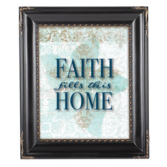 Faith Fills This Home Black Rope Trim 8 x 10 Table Top and Wall Photo Frame