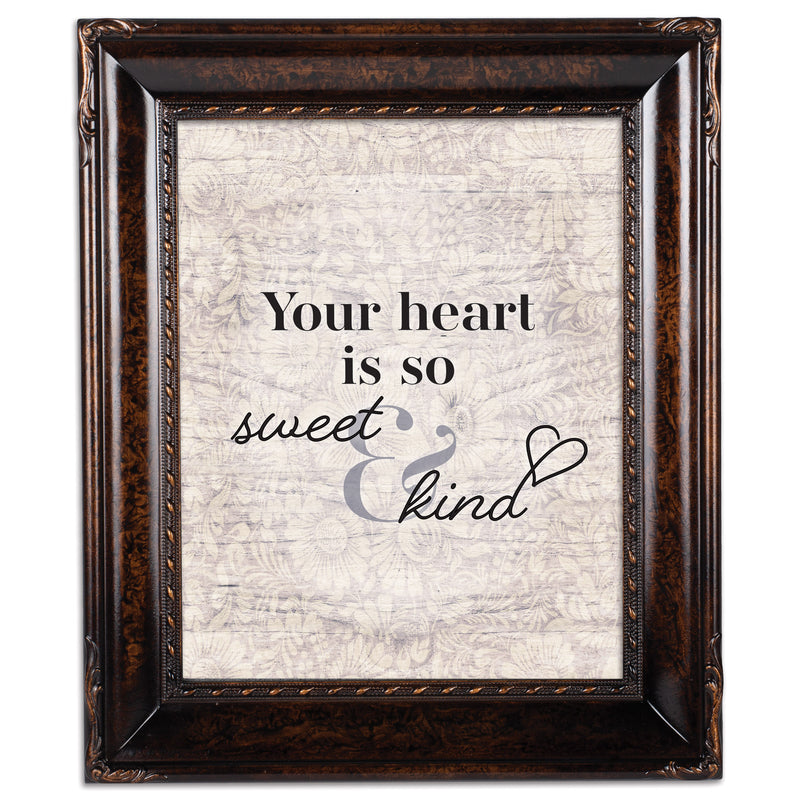 Heart Is So Sweet And Kind Amber 8 x 10 Rope Trim Wall And Tabletop Photo Photo Frame