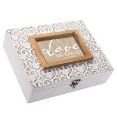 Love Never Fails Moroccan Mosaic Stone Music Box Plays How Great Thou Art