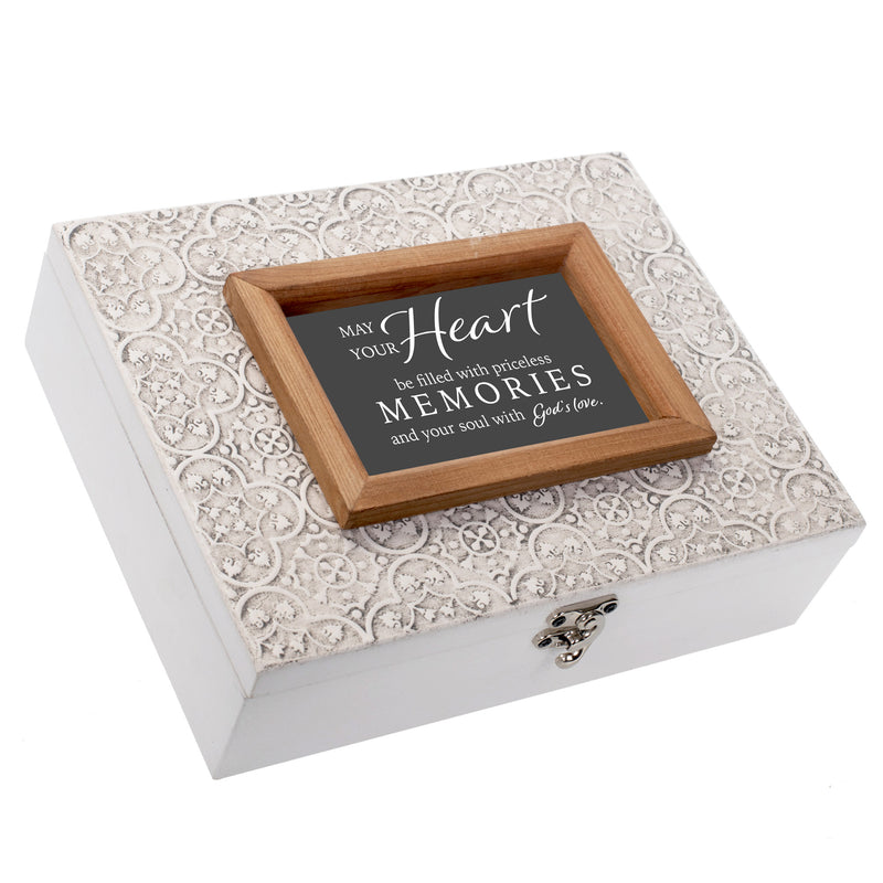 Heart Filled Priceless Memories Mosaic Heart Stone Music Box Plays How Great Thou Art