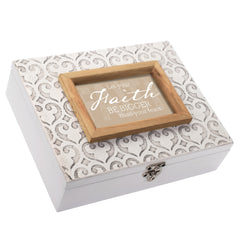 Let Your Faith Be Bigger Moroccan Mosaic Stone Music Box Plays How Great Thou Art