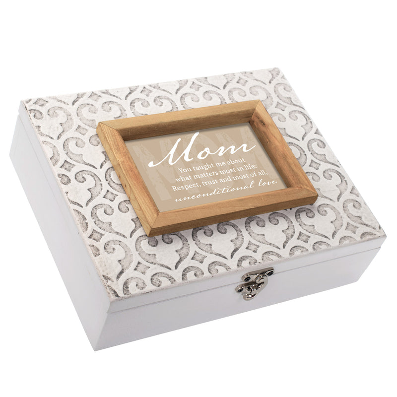 Mom Taught Unconditional Love Moroccan Mosaic Stone Music Box Plays Wind Beneath My Wings