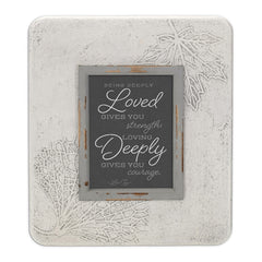 Being Loved Gives Strength 13.5 x 11.5 Dandelion Impression Wall Art Sign Plaque, Medium