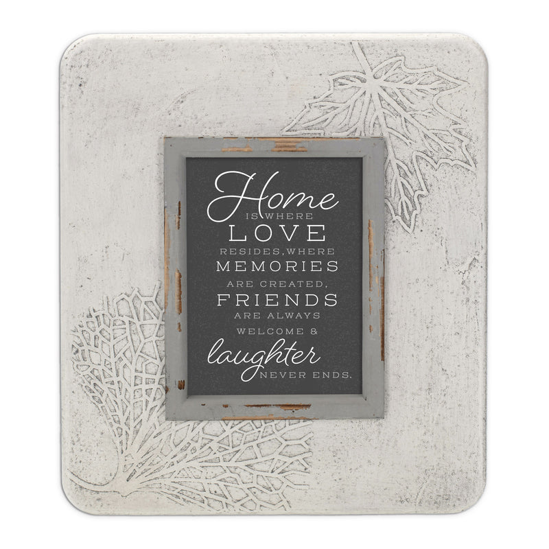 Home Is Where Love Resides 13.5 x 11.5 Dandelion Impression Wall Art Sign Plaque, Medium