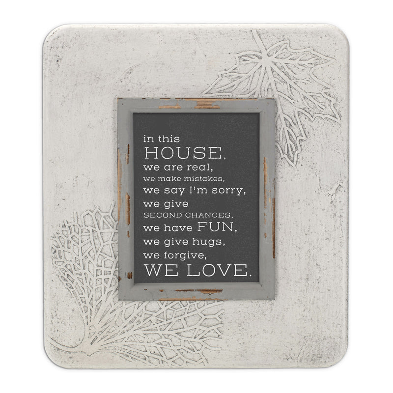In This House, We Are Real 13.5 x 11.5 Dandelion Impression Wall Art Sign Plaque, Medium