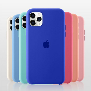 iPhone 11 Original Logo Liquid Silicone Soft Case