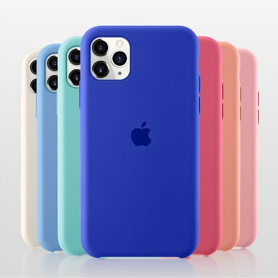 Apple iPhone [3-in-1 Combo] Silicone Logo Case + Lens & Screen Protector