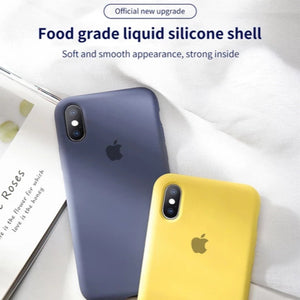iPhone XS Original Silicone Logo Case