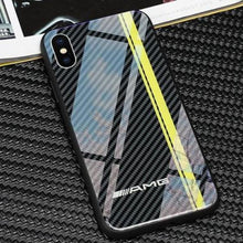 Load image into Gallery viewer, iPhone X/XS 3D Carbon Fiber Pattern Glass Case