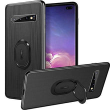 Load image into Gallery viewer, Galaxy S10 Plus (3 in 1 Combo) Cloth Texture Ring Case + Tempered Glass + Camera Lens Guard
