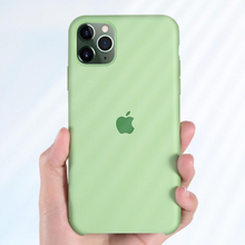 Load image into Gallery viewer, Apple iPhone [3-in-1 Combo] Silicone Logo Case + Lens & Screen Protector