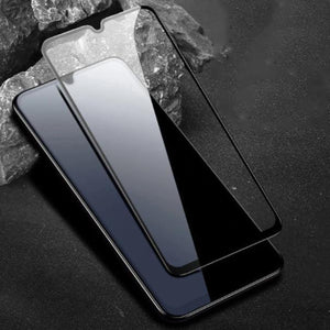 Galaxy A70 (3 in 1 Combo) Sleek Slim Leather Glass Case + Tempered Glass + Earphones