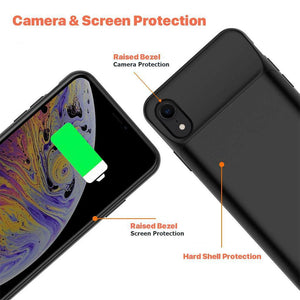 JLW ® iPhone XR Portable 6000 mAh Battery Shell Case