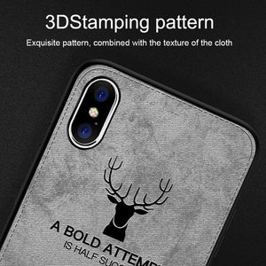 iPhone X Deer Pattern Inspirational Soft Case