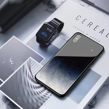 Load image into Gallery viewer, iPhone X Exquisite Moonlit Soft Edge Glass Case