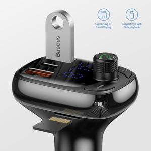 Baseus ® T-Type Wireless MP3 and USB Charger