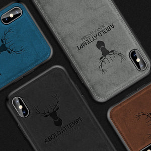 iPhone XR (3 in 1 Combo) Deer Case + Tempered Glass + Lens Guard