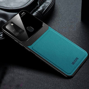 Galaxy A21s Sleek Slim Leather Glass Case